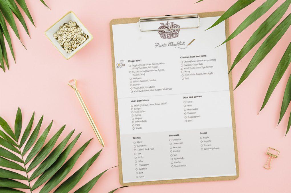 picnic essentials checklist print