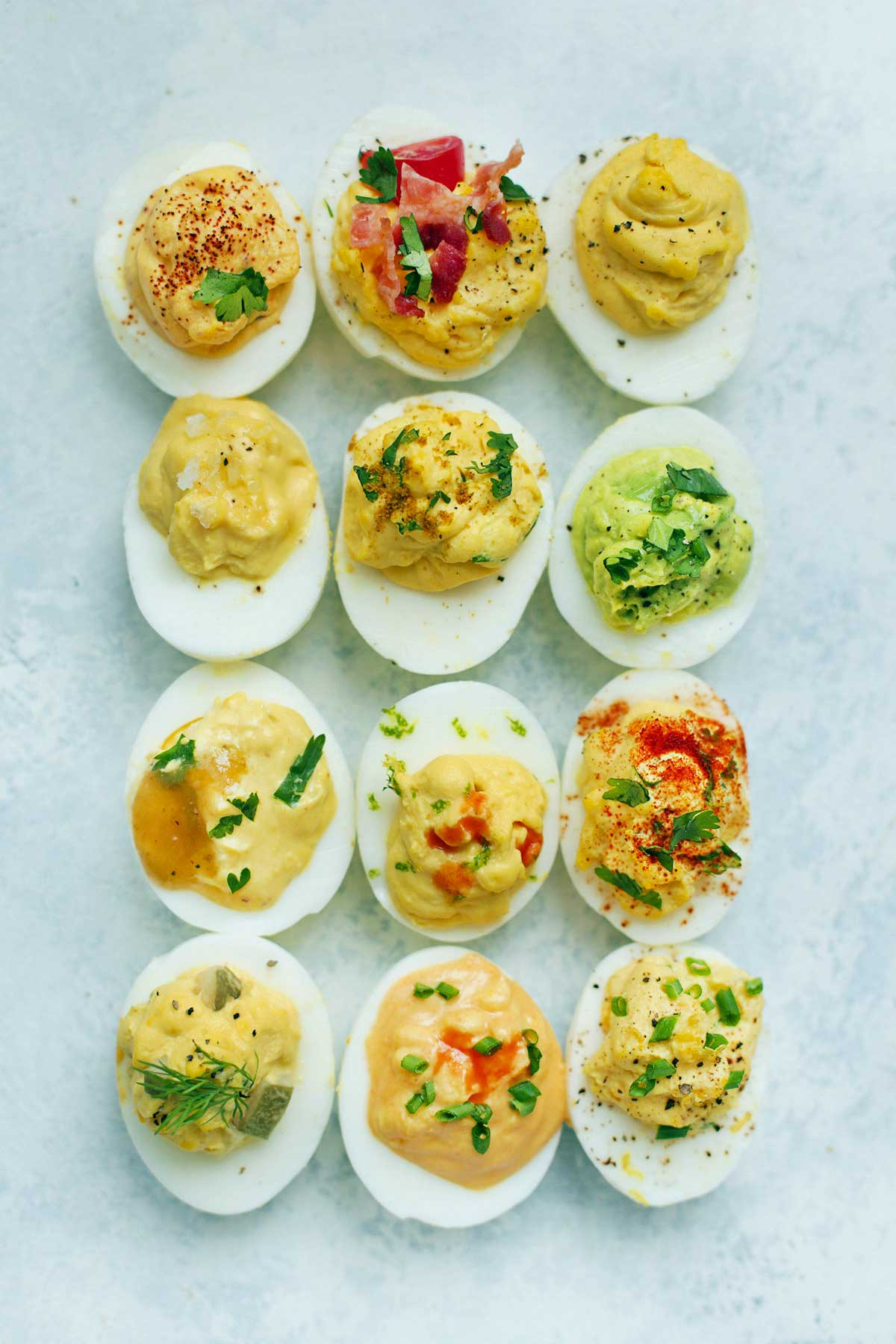 cold deviled eggs appetizer