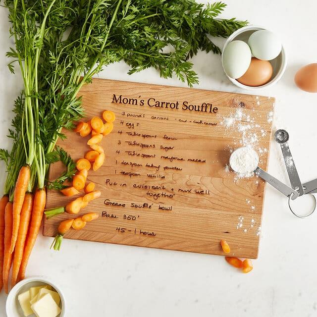 recipe wooden board gift
