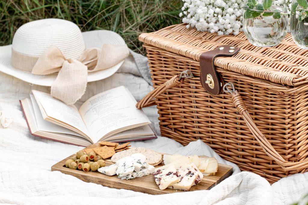 boho picnic basket