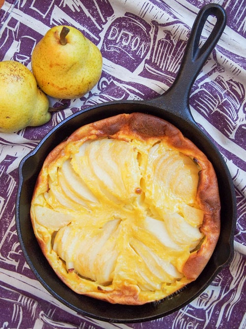 pear clafoutis picnic food idea