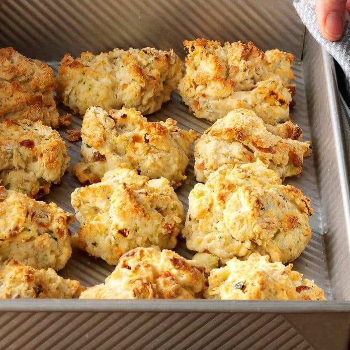 zuchini cheese drop biscuits