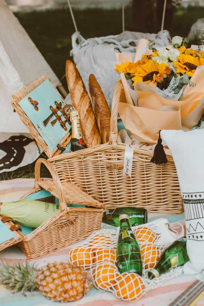 picnic basket full
