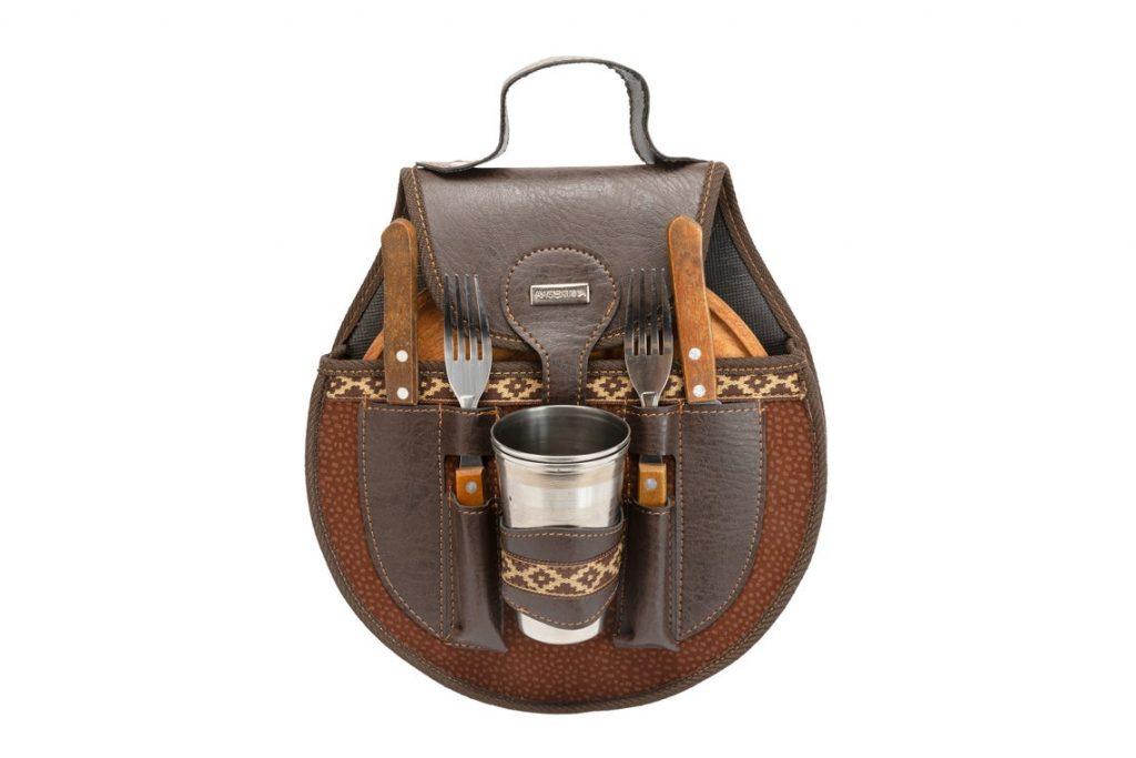 picnic leather tote