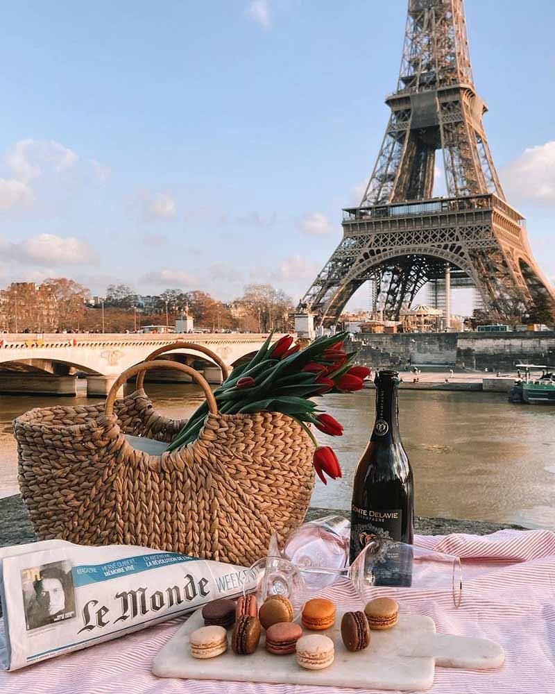 parisian picnic eiffel tower