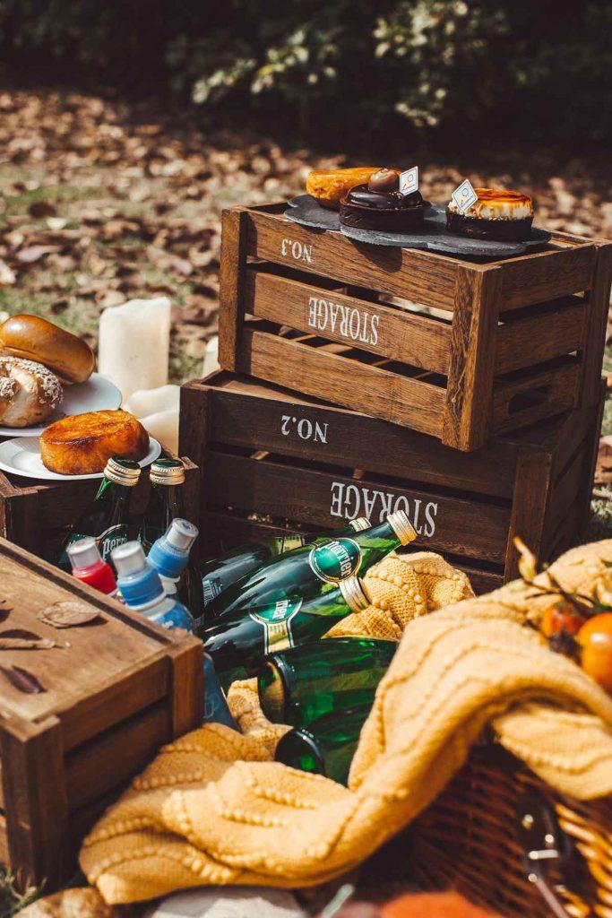 autumn wooden crates