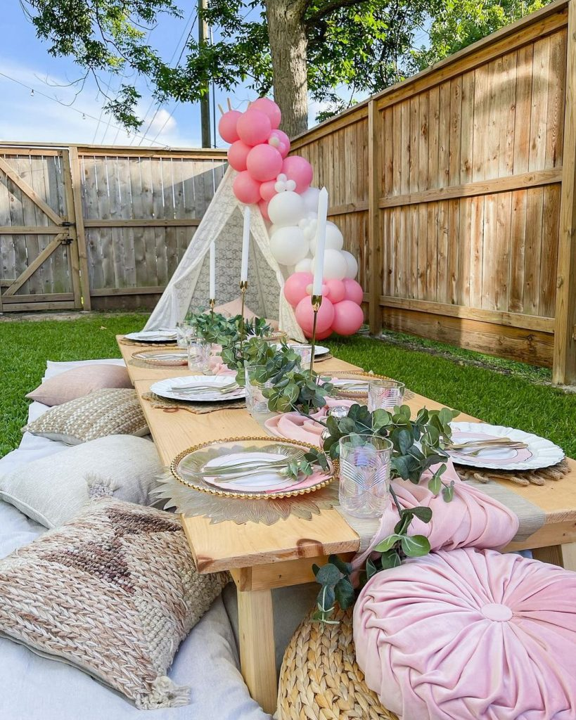 backyard birthday picnic idea
