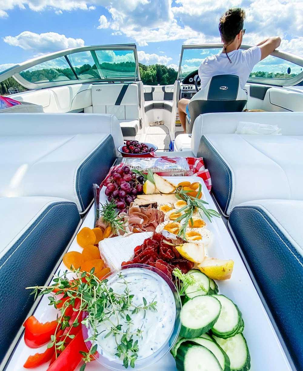 boating fresh fruits and veggies