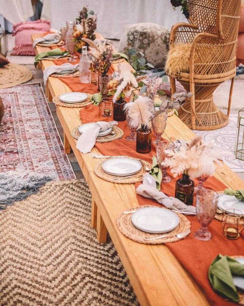 boho picnic themed birthday
