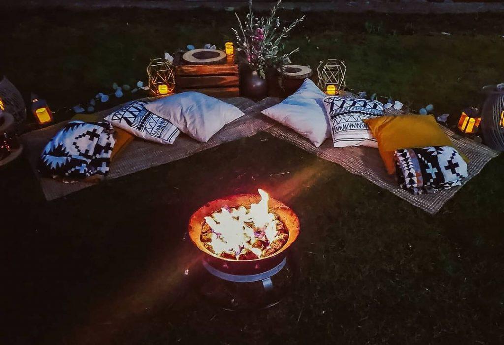 cute fireplace picnic