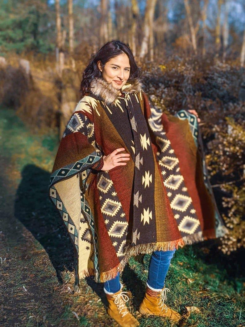 warm poncho to wear at night picnic