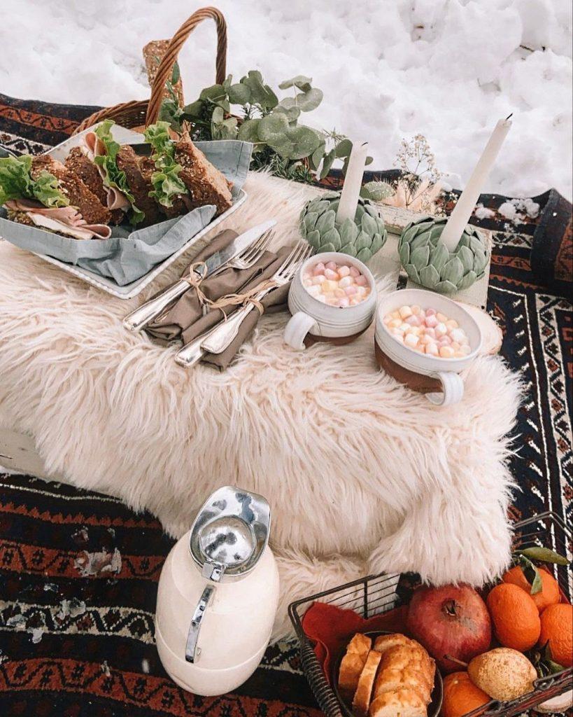 winter picnic blanket