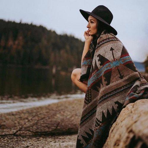 wool autumn blanket